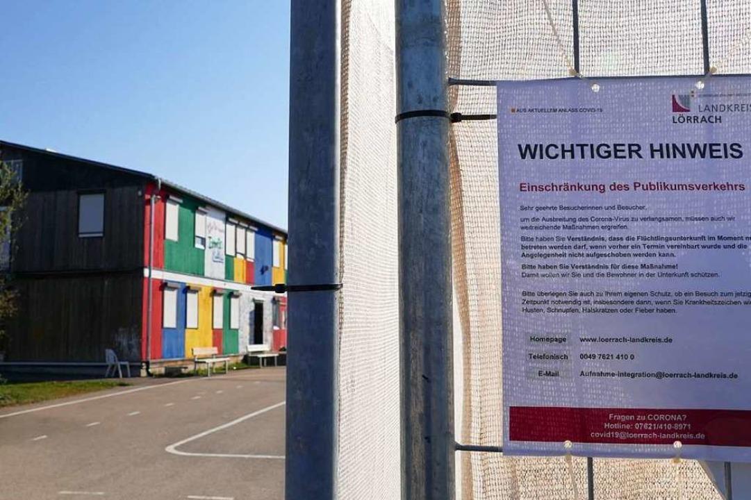 Die Corona-Auflagen führen zu Unmut in...einschaftsunterkunft Efringen-Kirchen.  | Foto: Victoria Langelott