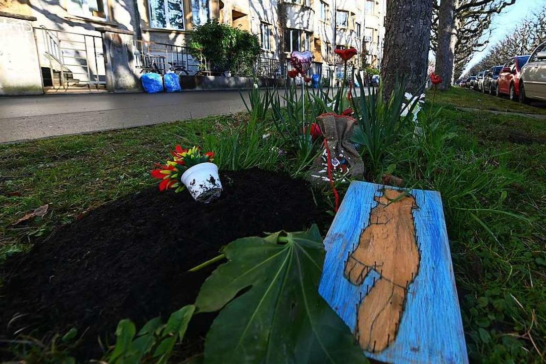 Der Tatort: Am St. Galler-Ring im Basl...eimweg von der Schule niedergestochen.    Foto: Jonas Hirt