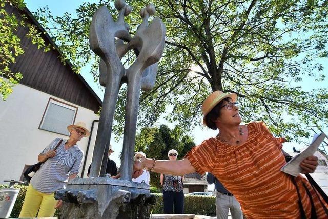 Auf den Spuren der Bildhauers Rudolf Scheurer durch Lörrach