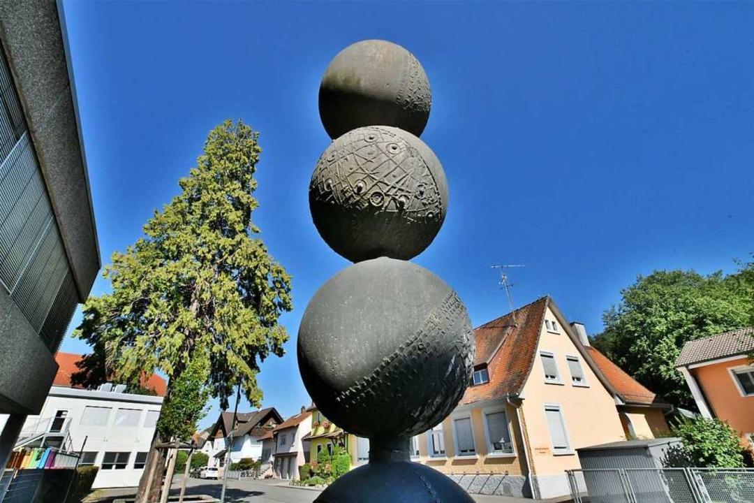 Ein Brunnen bei der Hellbergschule    Foto: Barbara Ruda
