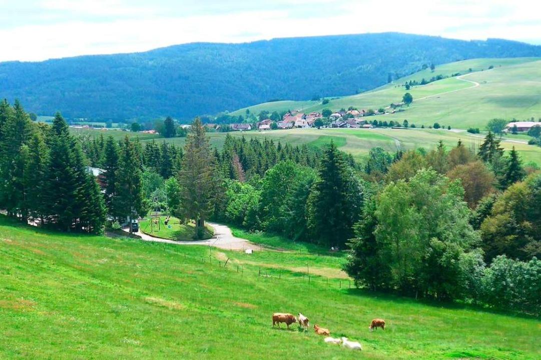 Gersbach liegt in einer Hochtalmulde d...gelegen Ortsteil der Stadt Schopfheim.  | Foto: Daniel Gramespacher