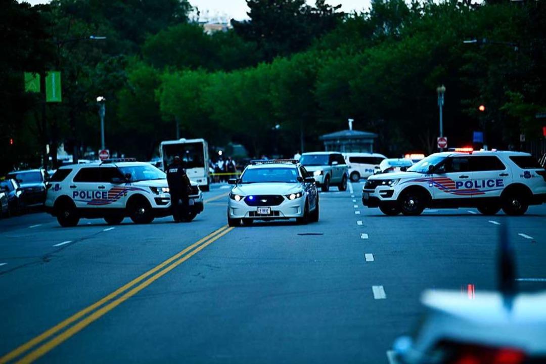 Die Straßen waren weiträumig abgesperrt.    Foto: BRENDAN SMIALOWSKI (AFP)