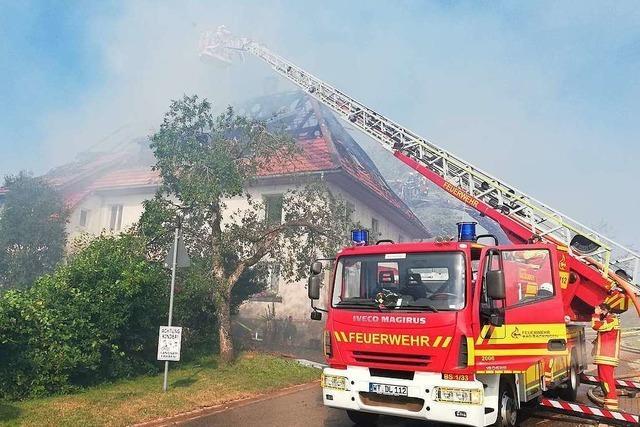 Millionenschaden nach Brand eines Bauernhofes in Rickenbach-Bergalingen