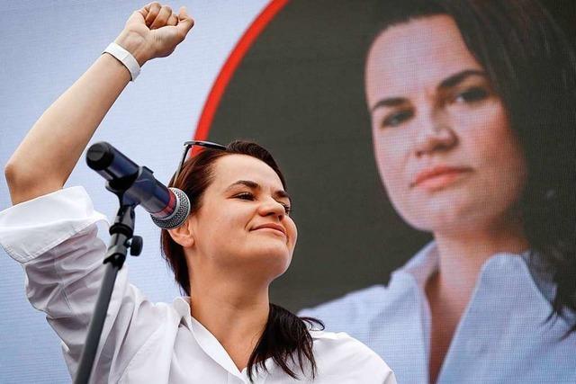 Oppositionelle Präsidentschaftskandidatin flieht aus Belarus
