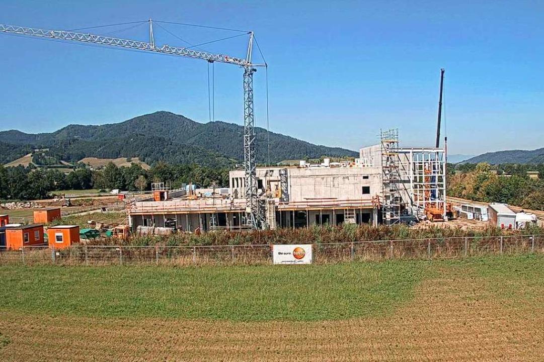 Die Großbaustelle von Testo Industrial...erbegebiet Fischerrain in Kirchzarten.  | Foto: Testo