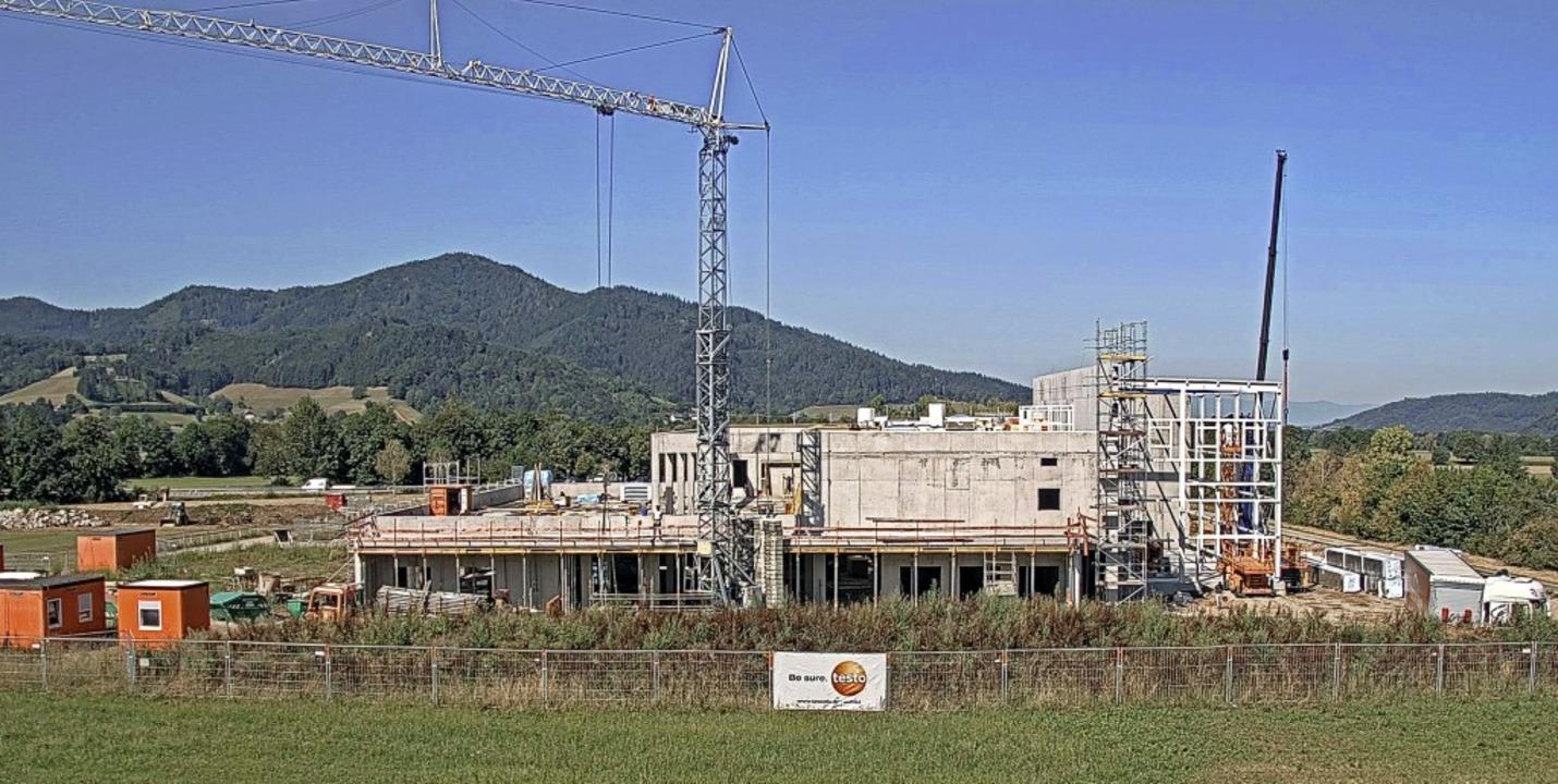 Die Großbaustelle von Testo Industrial...erbegebiet Fischerrain in Kirchzarten   | Foto: Testo