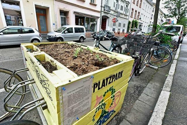 Wild aufgestellte Fahrradständer kommen zurück ins Freiburger Sedanquartier