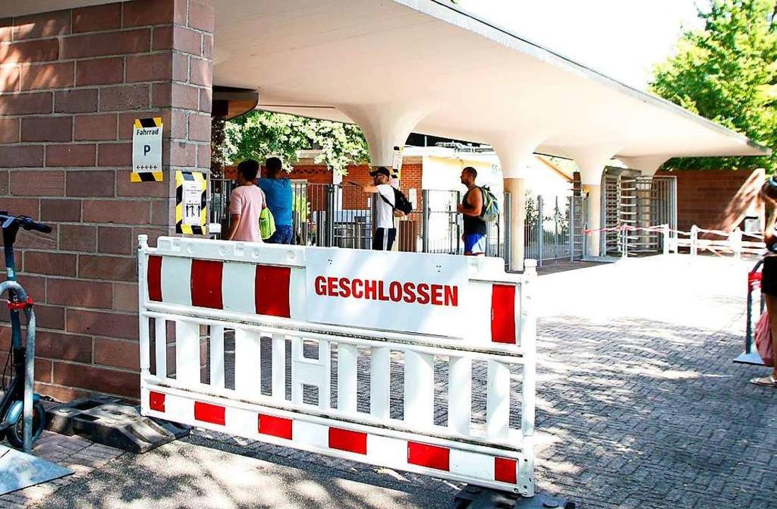 Das Terrassenbad wurde in den vergange...ie Besuchergrenze erreicht worden war.  | Foto: Heidi Fößel