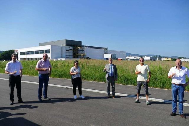 Das Rheinfelder Gewerbegebiet Sengern ist fertig erschlossen