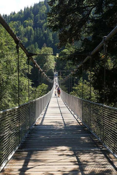 Die Hängebrücke ist eigentlich eine Ei...eise werden aber nicht immer beachtet.  | Foto: Jannik Jürgens
