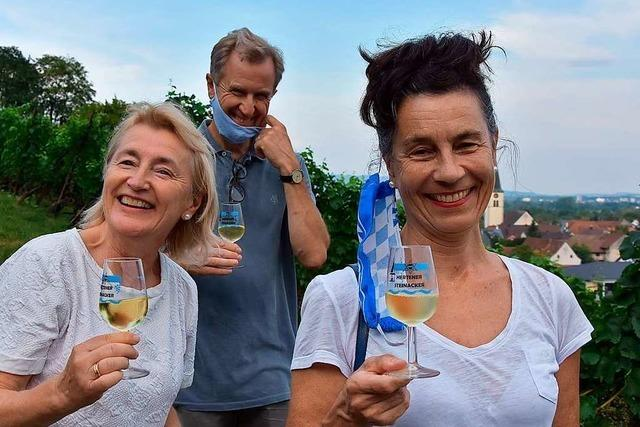 20 Teilnehmer sind mit der IG Weinbau in den Hertener Reben unterwegs