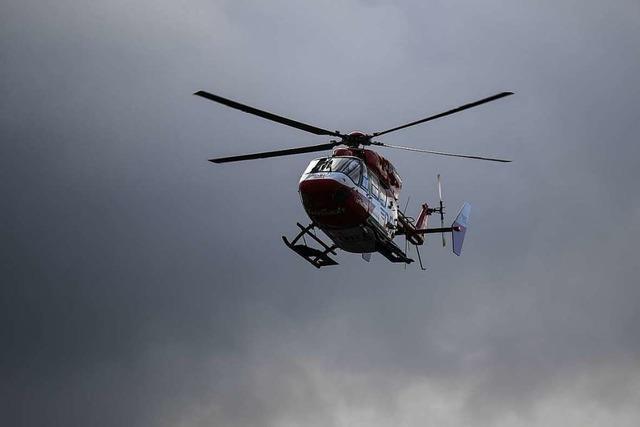 Frau und zwei Kinder nach Starkregen aus der Elz bei Gutach gerettet