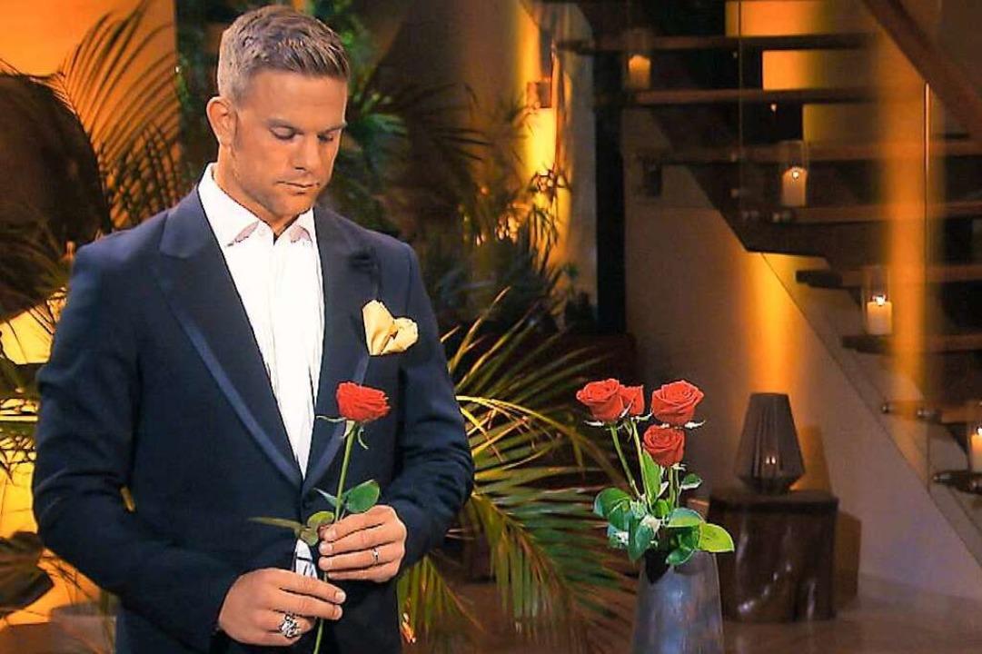 """Sebastian Preuss, der Bachelor, sprich...n die große Liebe"""", sagt er oft.    Foto: TV Now"""
