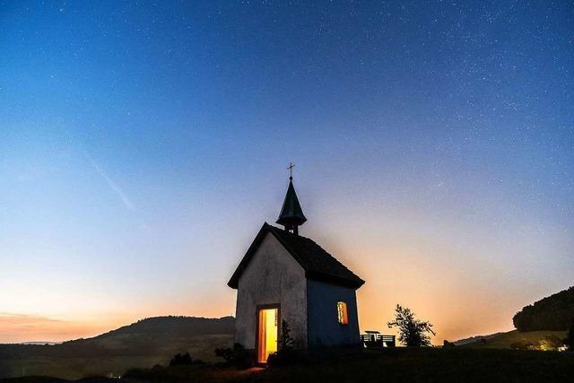 Abendstimmung an der Saalenbergkapelle in Sölden