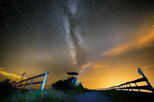 Sternenhimmel und Milchstraße überm Kandel