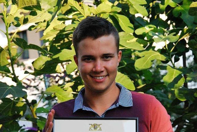 Patrick Beying aus Waldkirch ist einer der besten Gartenbauer im Land