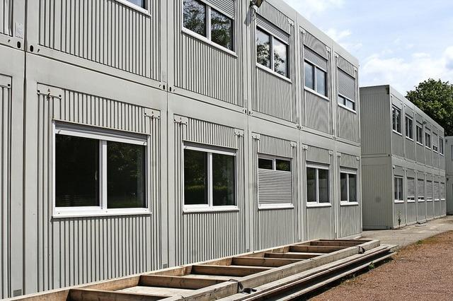 Ins Containerdorf in Schopfheim-Fahrnau ziehen neue Bewohner ein