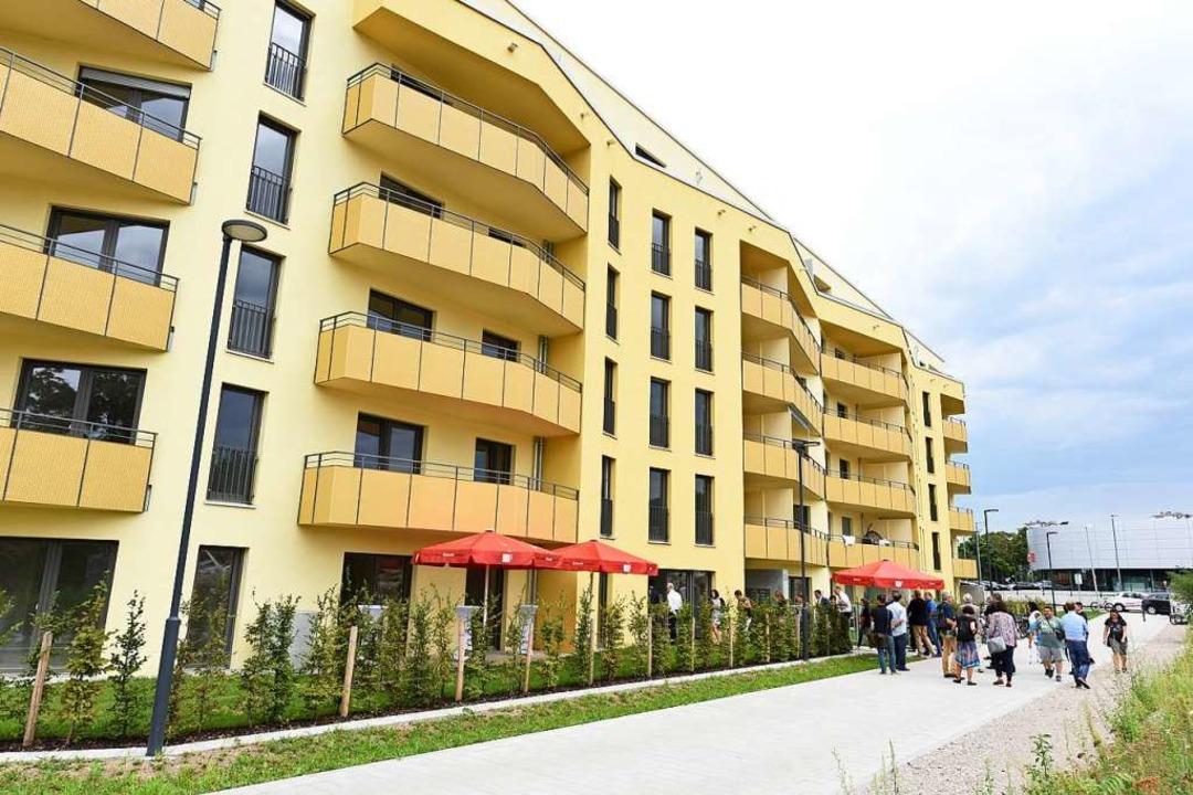 Wohnungen der Freiburger Stadtbau am Schildacker    Foto: Rita Eggstein