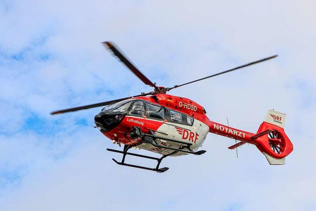 Rettungshubschrauber im Einsatz  | Foto: Bert Spangemacher (dpa)