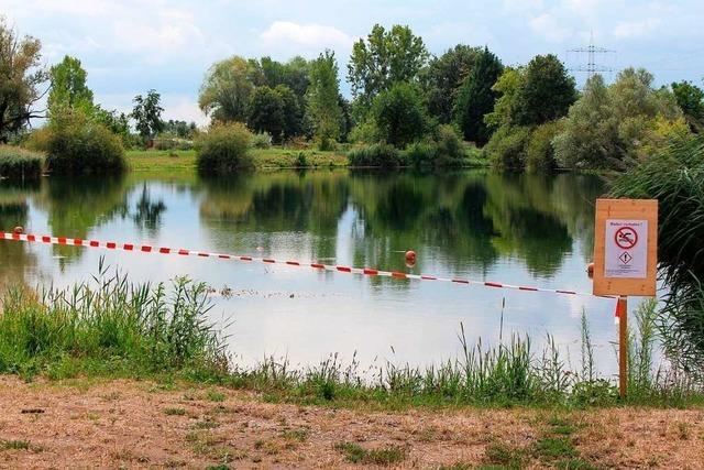 Ab sofort Badeverbot im Baggersee in Nonnenweier