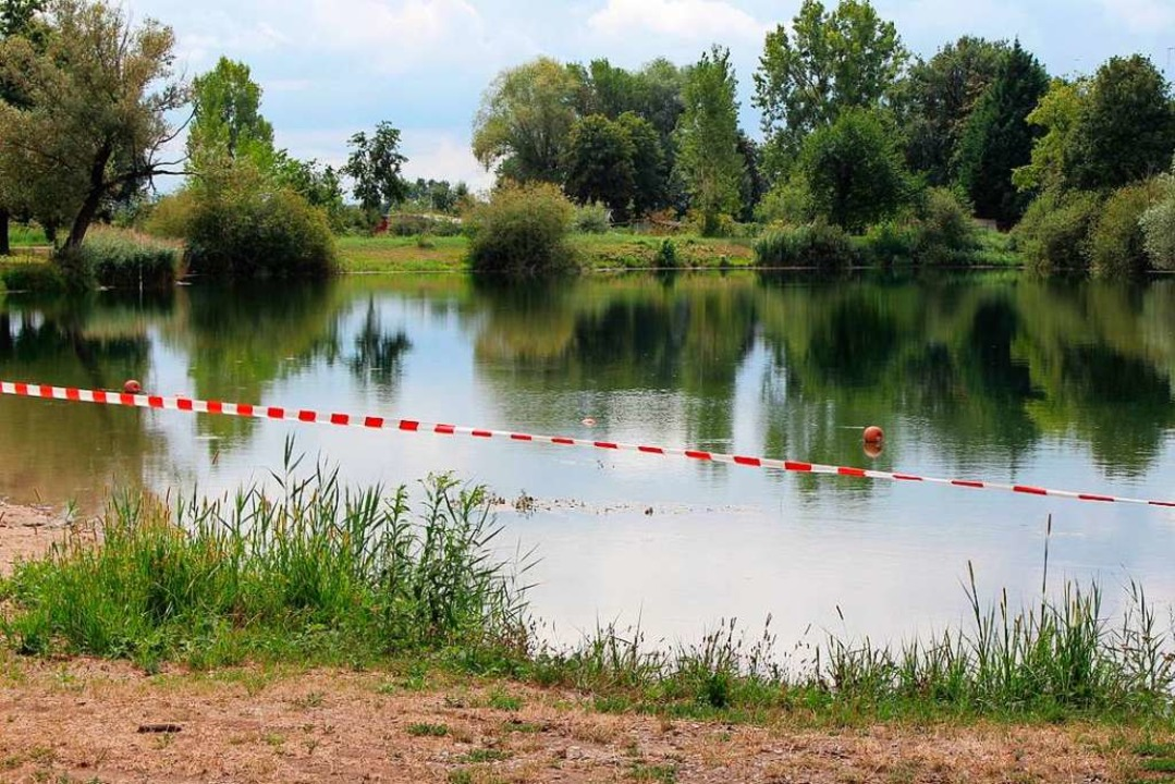Der Baggersee beim Anglerheim Nonnenweier ist gesperrt  | Foto: Reiner Beschorner