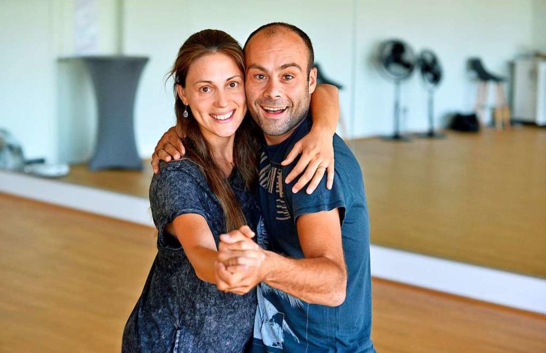 Die Inhaberin des Tanzstudios in Walte...rmica, und ihr Ehemann Franco Formica.  | Foto: Michael Bamberger