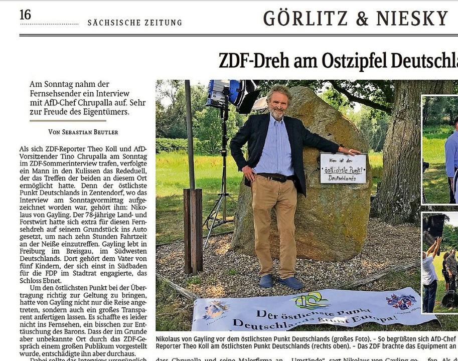 Ausriss aus der Sächsischen Zeitung: D...sitzenden Chrupalla aufgenommen hat.    | Foto: Repro: BZ