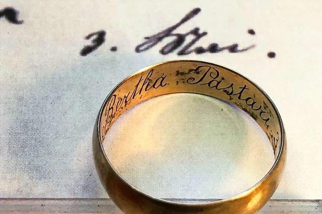 Familie aus Zell bekommt den vor mehr als 100 Jahren verlorenen Ehering des Urgroßvaters zurück