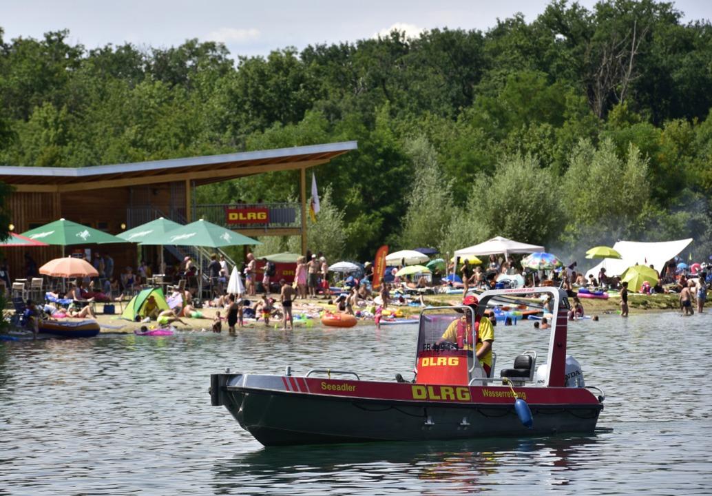 Der Opfinger Baggersee ist momentan ein beliebtes Ausflugsziel.    Foto: Thomas Kunz