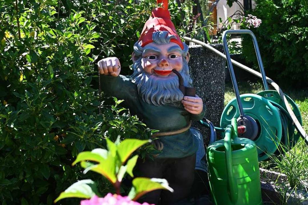 Darf nicht fehlen – der Gartenzwerg    Foto: Jonas hirt