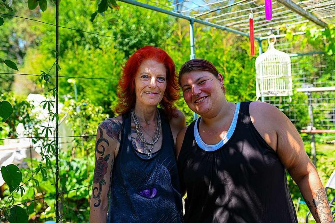 Samantha (links) und Astrid Grob    Foto: Jonas Hirt
