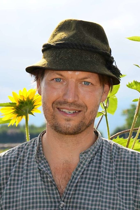 Ein Landwirt mit  Ideen: Michael Seliger aus Bad Krozingen-Tunsel    Foto: Gabriele Hennicke