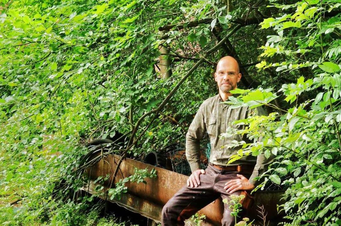 Duscht der Natur zuliebe nur noch 45 S...: der passionierter Jäger Dirk Gratzel  | Foto: Miriam Gratzel