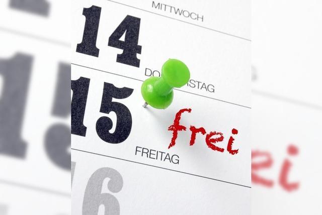 Der fünfte Tag ist immer frei