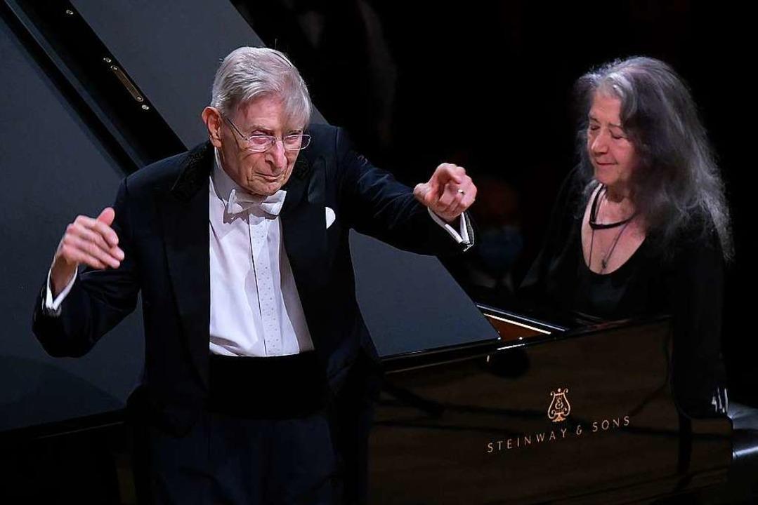 Zwei, die durch Mühsal zu den Sternen ...lomstedt und Martha Argerich in Luzern  | Foto: Peter Fischli / Lucerne Festival
