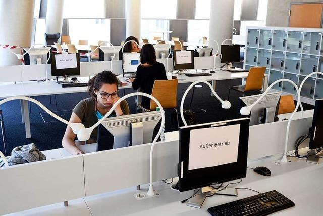Nur 900 Studierende können in der Freiburger Unibibliothek lernen