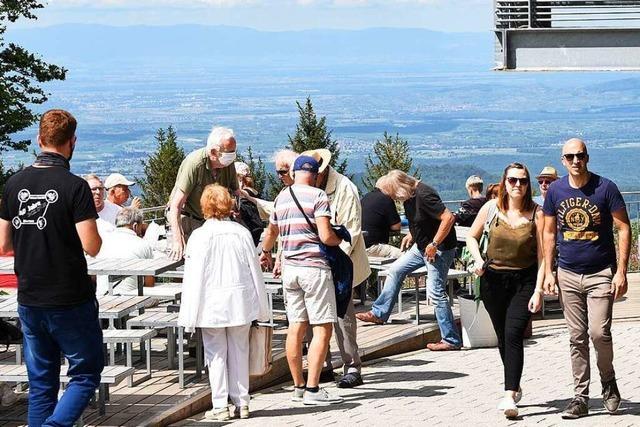 Im Corona-Sommer läuft auf dem Schauinsland in Freiburg vieles anders