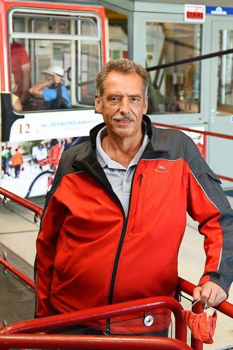 Günter Voigt, Betriebsleiter der Schauinslandbahn    Foto: Rita Eggstein