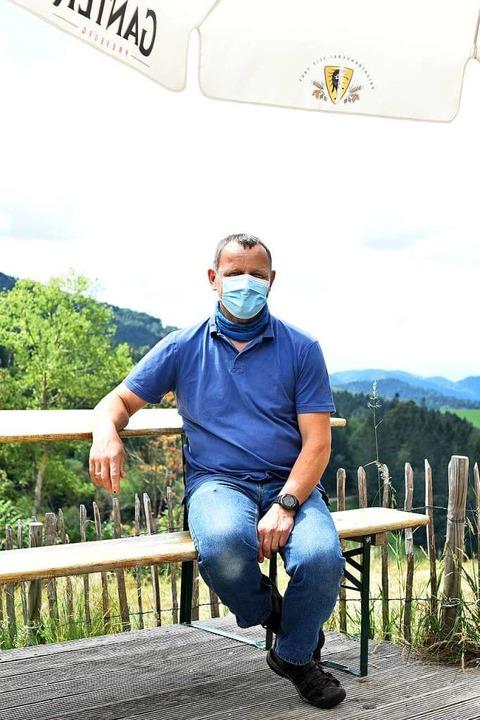 Mike Minuth, Wirt der Holzschlägermatte.    Foto: Rita Eggstein