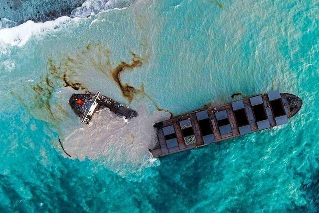Vor der Küste von Mauritius spielt sich eine Umweltkatastrophe ab
