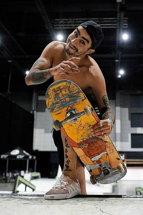 Gute Laune im Skateboard-Parcours  | Foto: Bettina Schaller