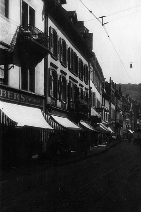 Ein Stück Alt-Freiburg, das nicht mehr...malige Salzstraße 11 (heute Nummer 7).  | Foto: Stadtarchiv Freiburg