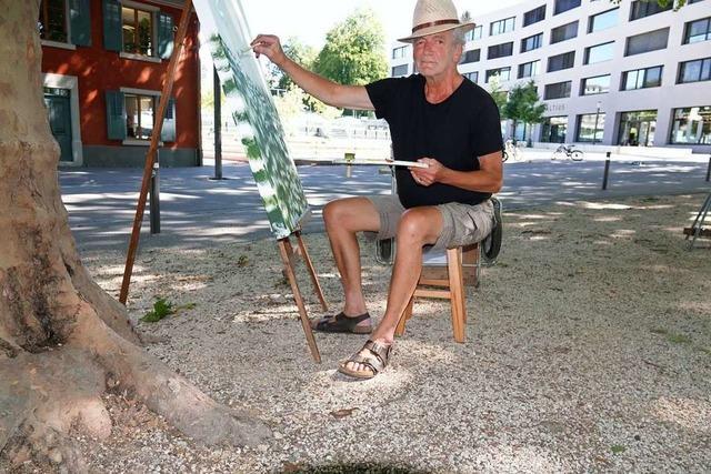 Rheinfelder Maler verlegt sein Atelier mitten in die Stadt