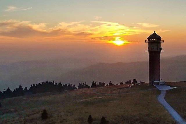 Auf dem Feldbergturm hat man einen fantastischen Rundumblick