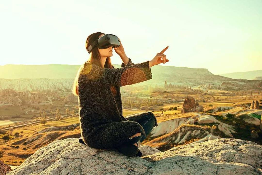 Mit Hilfe einer VR-Brille kann man sic...eppich aus in fremde Welten versetzen.  | Foto: franz12  (stock.adobe.com)