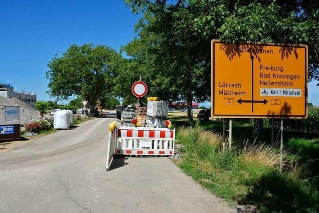 Breitenweg in Buggingen ist weiter gesperrt – wohl bis Ende August