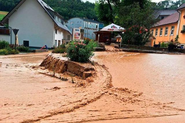 Hochwasser in Lausheim Fotos 2020