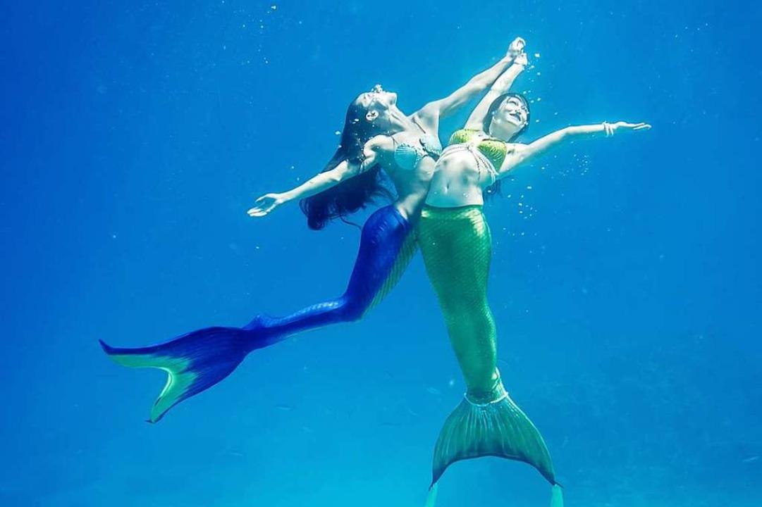 Schwerelos unter der Wasseroberfläche ... Traum vieler Freizeit-Meerjungfrauen.    Foto: Magictail