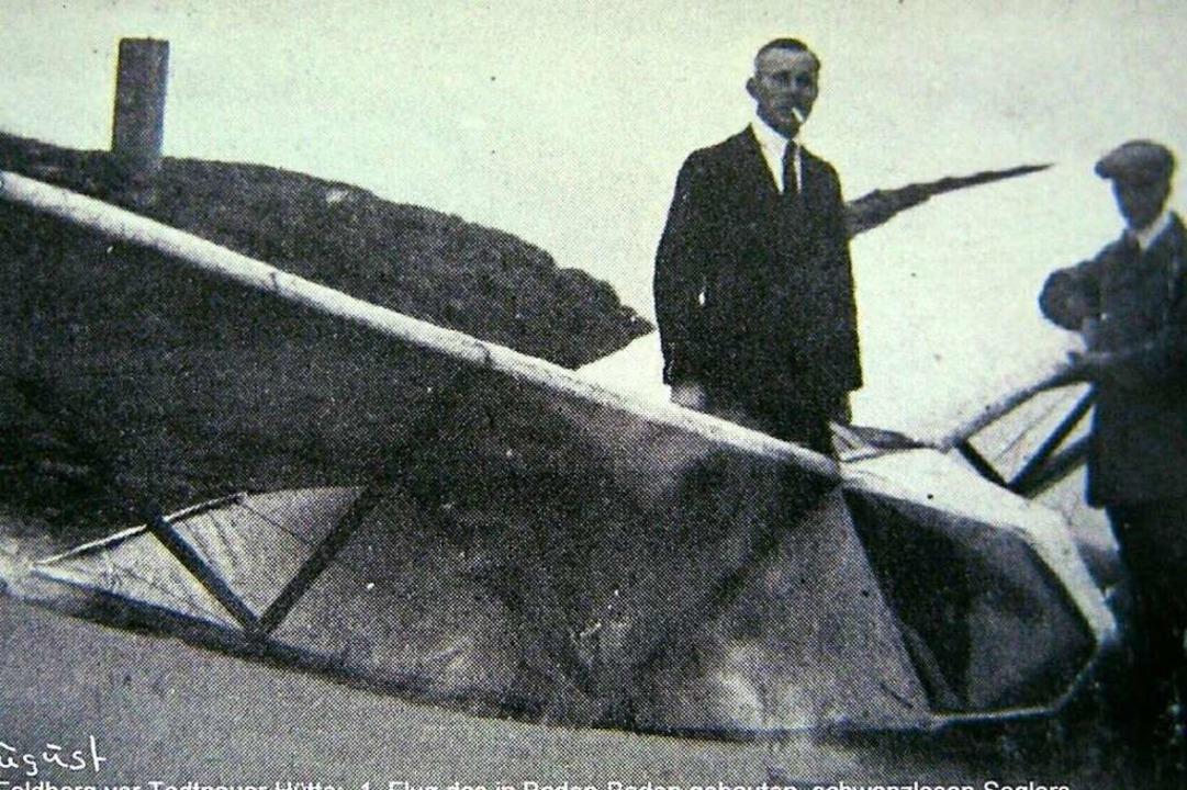 Am 19. August 1920 gelang Pilot Fritz ... Segler konstruierte   Friedrich Wenk.  | Foto: Archiv Gerd Schäfer