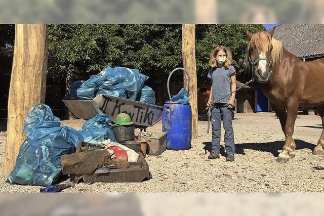 Die Kontiki-Kinder sammelten viel Müll